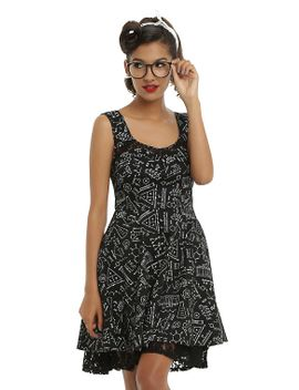 science-fit-&-flare-dress by hot-topic