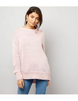 Shoptagr   Lang Geschnittener Pullover In Rosa by New Look 795b69e78f