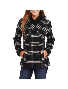 faded-glory-womens-double-breasted-faux-wool-peacoat-with-hood by faded-glory
