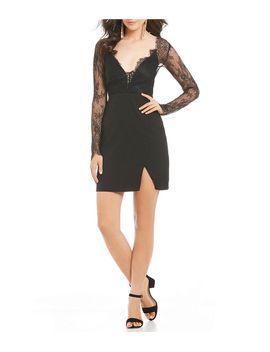9e0a7e93f Shoptagr | Gb Social Long Sleeve Lace Dress by Gb