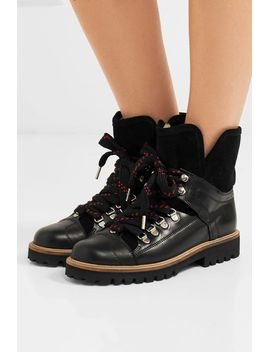 Ganni Edna leather ankle boots