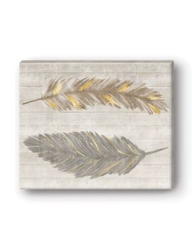 shoptagr feather printed canvas wall art alexandria by studio