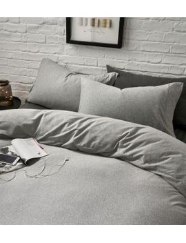 Grey Marl Jersey Bed Set By Next