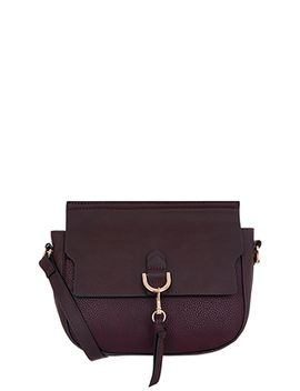 Avalon Ring Detail Saddle Bag by Accessorize