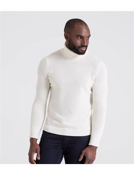 Mens Lambswool Turtle Neck Sweater by Wool Overs