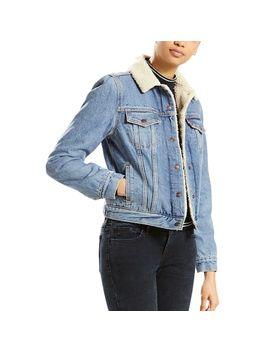 womens-levis-sherpa-lined-trucker-jacket by levis