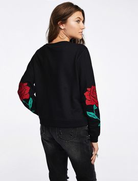 Embroidered Roses Sweater by Castro