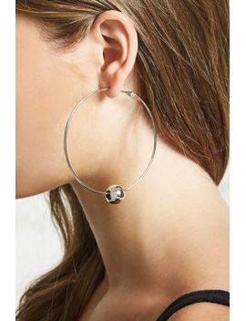 beaded-drop-hoop-earrings by forever-21