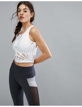 new-look-seam-free-ladder-cut-out-crop-top by new-look