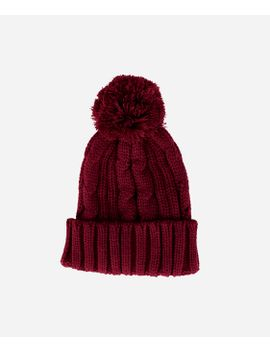 Womens Solid Cable Knit Beanie by San Diego Hat