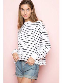 brandy-melville-oversized-navy red white-striped-pull-over-jayden- 8955ac3d2