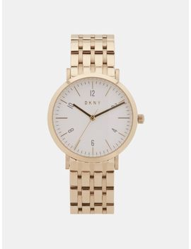 Minetta Gold Tone Watch by Dkny