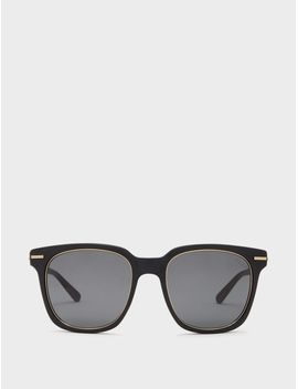 Square Sunglasses With Dash Lines by Dkny