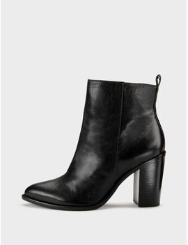 Houston Glazed Leather Ankle Boot by Dkny