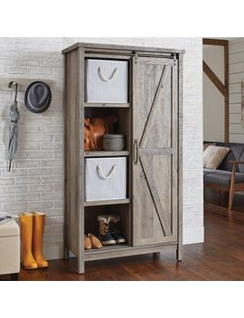 "better-homes-&-gardens-66""-modern-farmhouse-bookcase-storage-cabinet,-rustic-gray-finish by better-homes-&-gardens"