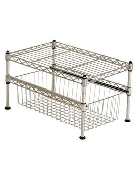 seville-mini-basket-shelf-organizer---silver by seville-classics