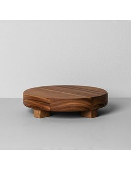 acacia-wood-round-footed-tray---hearth-&-hand-with-magnolia by shop-this-collection