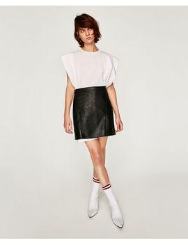 falda-mini-efecto-piel--faldas by zara a65b2345fdc5