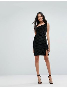 One Shoulder Mini Bodycon Dress With Stud Detail - Black/gold Outrageous Fortune