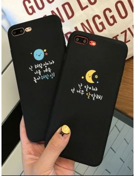I Phone 8/8 Plus/7/7 Plus/6/6 S/6 Plus/6 S Plus Phone Case Sun&Moon Pattern Letter Phone Cover by Jollychic