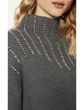 knitted-marl-stud-jumper by karen-millen