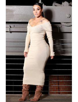 Joplin Ribbed Nude Dress by Bdonnas