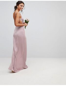 asos-design-tall-drape-front-strappy-back-maxi-dress by asos-tall