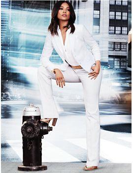 7daf3a20e Shoptagr | 7th Avenue Straight Leg Pant Signature White by New York ...