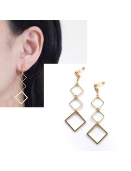 Gold Clip On Earrings Dangle Invisible