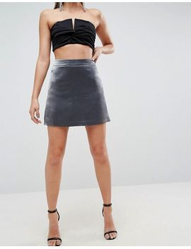 asos-tailored-metallic-mini-a-line-skirt by asos-collection