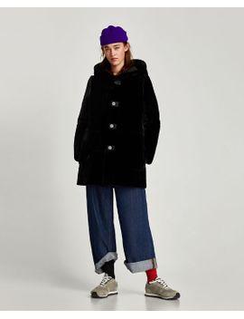 reversible-faux-fur-three--quarterlength-coat-- by zara