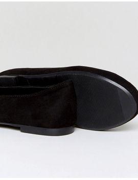Tab Slipper Flat Shoe - Black New Look