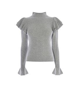 ruffle-turtleneck-knit-jumper by -karen-millen