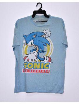 Shoptagr Vintage Sonic The Hedgehog Blue T Shirt Youth Big Logo