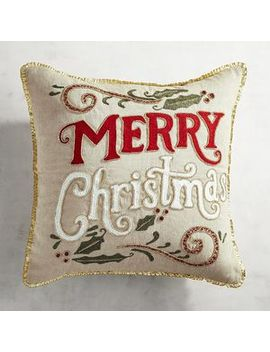 red-&-gold-beaded-merry-christmas-pillow by pier1-imports