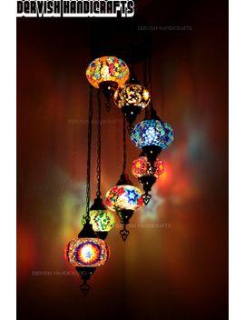 Shoptagr | Hanging Lamps,Turkish Lamp,Handmade Mosaic,Glass Lamp,Chandelier,Mosaic  Lamp By Dervish Handicrafts