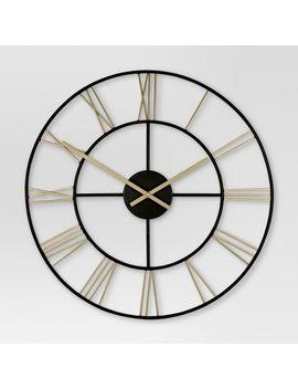 decorative-wall-clock---gold_black---threshold by threshold