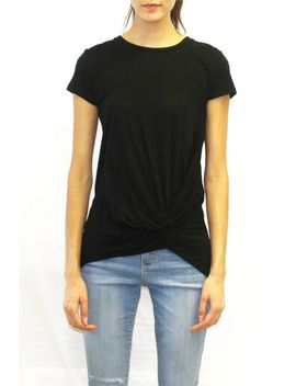 front-drape-tee-(white-_-black-_-blush-_-navy) by highway-jeans