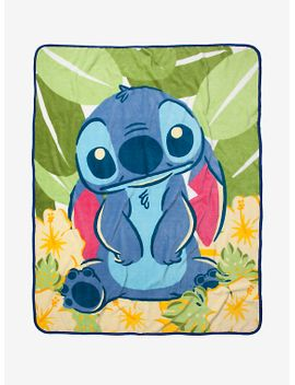 disney-lilo-&-stitch-tropical-throw-blanket by hot-topic