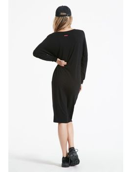 Long Sleeve Slouchy V Neck Dress by Hard Tail Forever