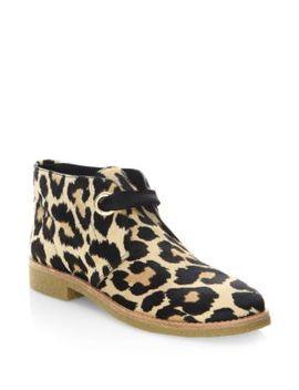 Kate Spade New York Barrow Leopard-Print Calf Hair Booties