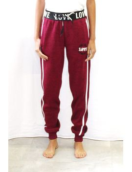 varsity-stripe-love-melange-jogger-pants by highway-jeans