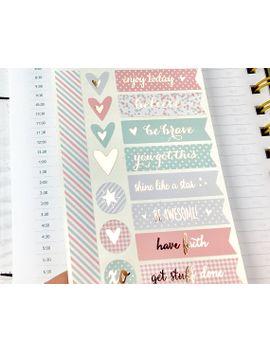 shoptagr planner stickers inspirational rose gold foil peach