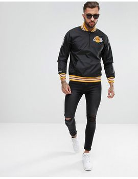 mitchell-&-ness-nba-la-lakers-overhead-jacket by mitchell-&-ness