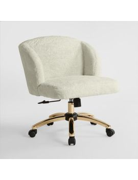 Cream Lucy Upholstered Office Chair By World Market