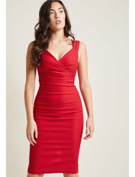 lady-love-song-sheath-dress-in-ruby by modcloth