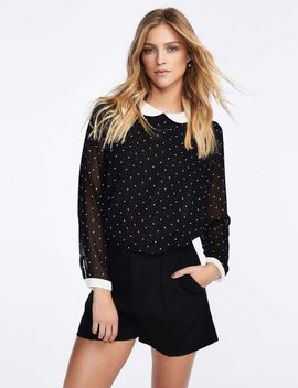 Spotted Top With Peter Pan Collar by Castro