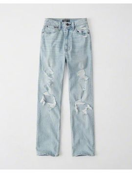 ultra-high-rise-ankle-straight-jeans by abercrombie-&-fitch