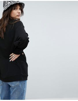 asos-design-x-glaad&-oversized-sweatshirt-with-embroidery by asos-collection