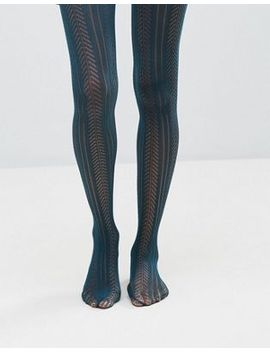 asos-pelerine-tights-in-teal by asos-collection